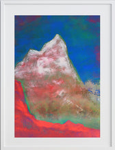 Load image into Gallery viewer, Painting | Alpine Pink Matterhorn by Orfhlaith Egan | A Soft Day | Framed White