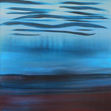Load image into Gallery viewer, A Soft Day | Original Abstract Blue Landscape Painting by Orfhlaith Egan | Natural Light | A Soft Day