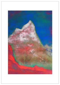 Painting | Alpine Pink Matterhorn by Orfhlaith Egan | A Soft Day | Framed White
