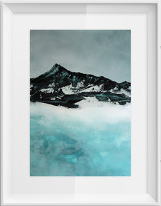 Painting | Lake in Winter by Orfhlaith Egan | A Soft Day | Framed White
