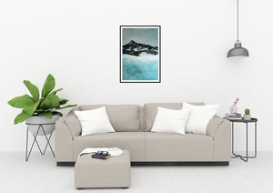 Painting | Lake in Winter by Orfhlaith Egan | A Soft Day | Home Living Room Interior