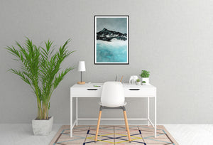 Painting | Lake in Winter by Orfhlaith Egan | A Soft Day | Home Office Interior