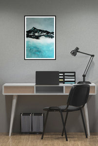 Painting | Lake in Winter by Orfhlaith Egan | A Soft Day | Home Office Gray Interior