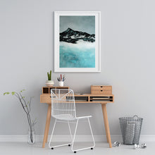 Load image into Gallery viewer, Painting | Lake in Winter by Orfhlaith Egan | A Soft Day | Home Office Desk Interior