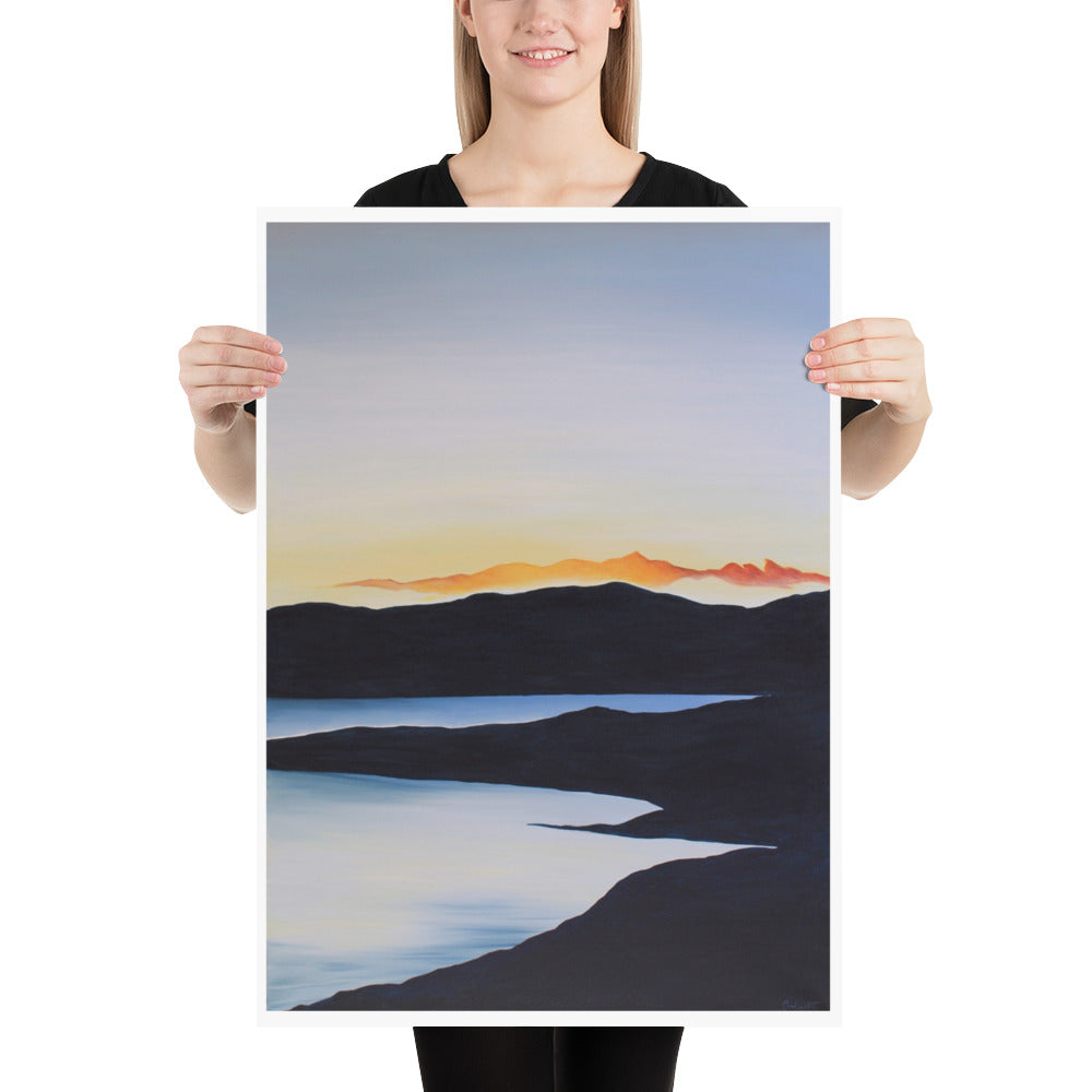 Sunset on the Lake | Art Print Poster by Orfhlaith Egan | A Soft Day