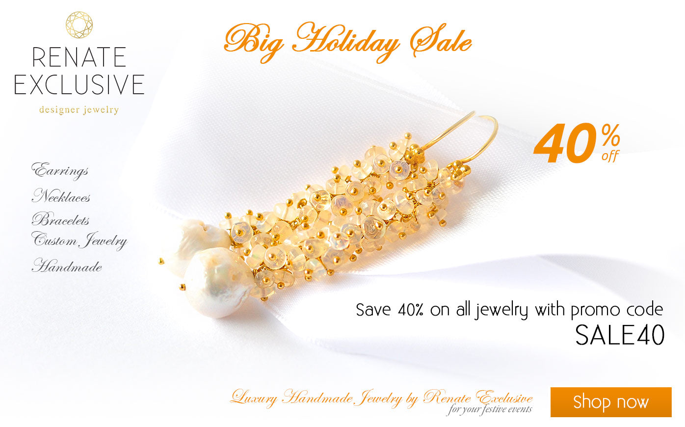 Handmade Jewelry Holiday Sale - Save 40%