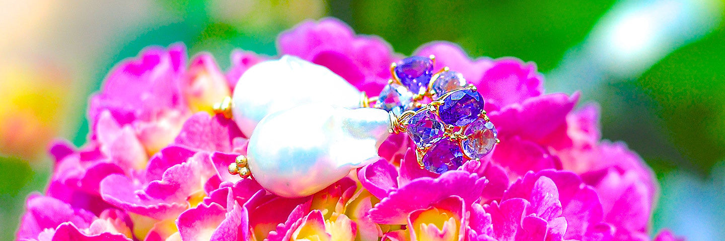 Summer Earrings - Giant Baroque Pearl Earrings