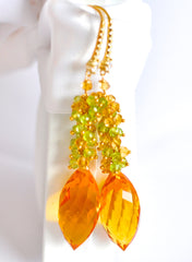 "Orange Citrine and Multi Color Earrings ""Bold"" - Handmade Jewelry - Renate Exclusive - 3"