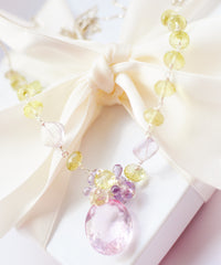 Forget Me Not! Luxury Breath Taking Lavender Pink Kunzite Necklace - Handmade Jewelry - Renate Exclusive - 2