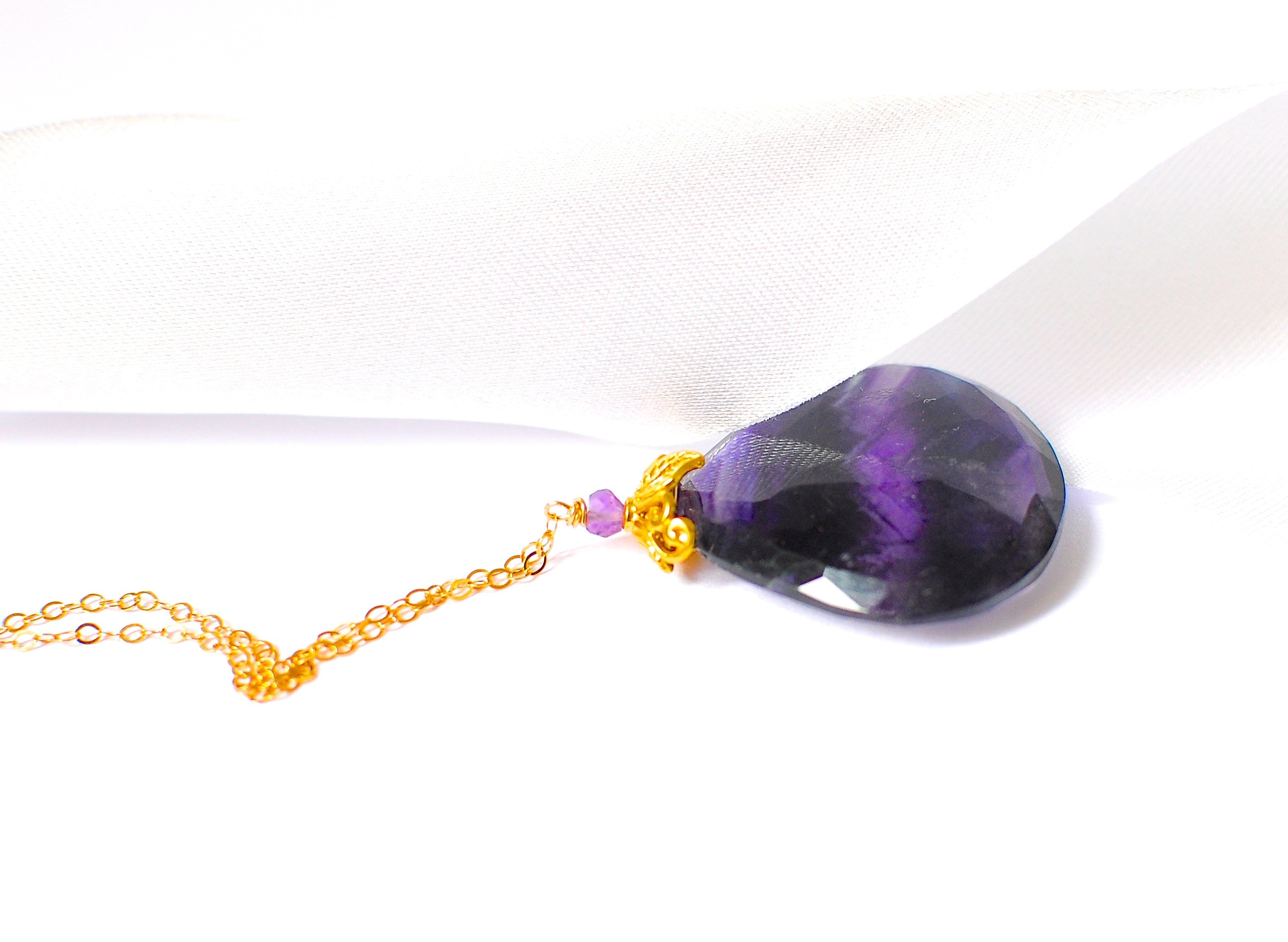 pendant il necklace anxiety gallery intuition empath fullxfull fluorite photo listing rainbow