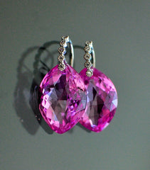 "Simple Pink Topaz and Silver Earrings ""Silver"" - Handmade Jewelry - Renate Exclusive - 5"