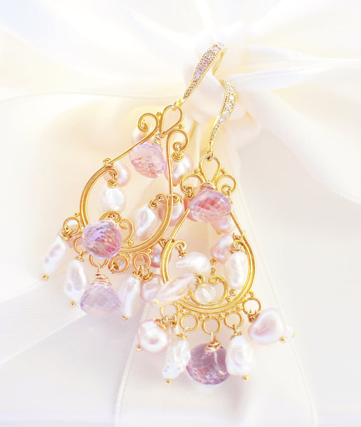 Forget Me Not! Oriental Style Earrings - Handmade Jewelry - Renate Exclusive - 1
