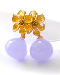 "Purple Quartz Earrings ""Orchid"" - Handmade Jewelry - Renate Exclusive - 3"
