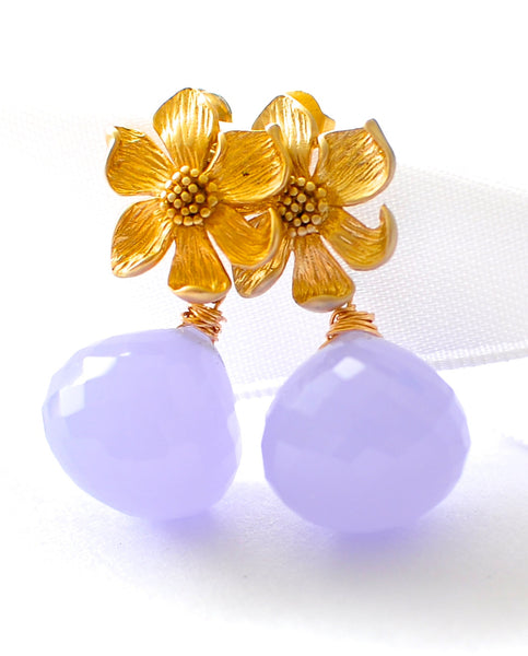 "Purple Quartz Earrings ""Orchid"" - Handmade Jewelry - Renate Exclusive - 1"