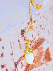 "Luxe Australian White Opal Necklace "" Swan"""