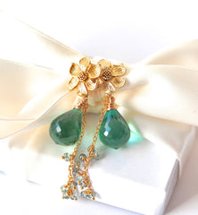 Gorgeous Green Amethyst Earrings for Spring! - Handmade Jewelry - Renate Exclusive - 2