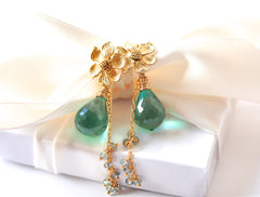 Gorgeous Green Amethyst Earrings for Spring! - Handmade Jewelry - Renate Exclusive - 4