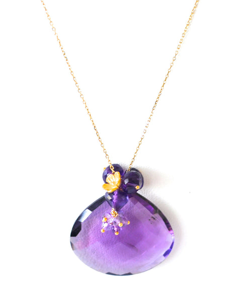 "Luxury Amethyst Necklace ""Stunning"" - Handmade Jewelry - Renate Exclusive - 1"