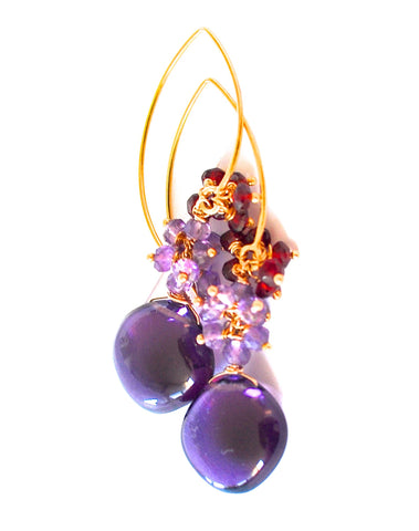 "Handmade Jewelry: Amethyst Quartz Earrings ""Purple Girl"" - Handmade Jewelry - Renate Exclusive - 1"