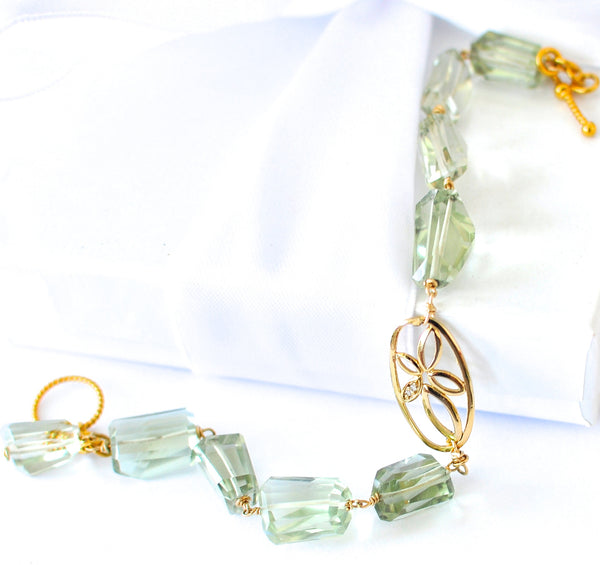 "Green Amethyst Bracelet ""Freya"" - Handmade Jewelry - Renate Exclusive - 1"