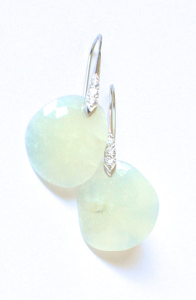 "White Sapphire Earrings "" Clouds"""