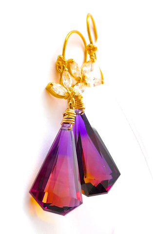 "Handmade Jewelry: Amazing Ametrine Earrings ""Amazing"" - Handmade Jewelry - Renate Exclusive - 1"