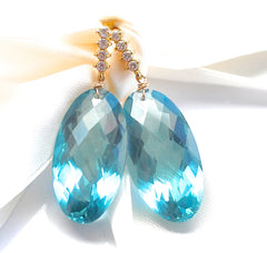 Forget Me Not! Super Stunning Blue Green Topaz Earrings - Handmade Jewelry - Renate Exclusive - 5