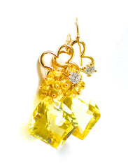 "African Lemon Quartz Earrings ""Suzanne"" - Handmade Jewelry - Renate Exclusive - 2"