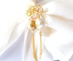 Forget Me Not! Kasumi-like Pearl Earrings - Handmade Jewelry - Renate Exclusive - 5