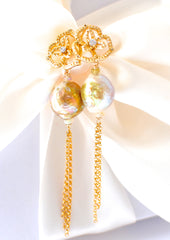 Forget Me Not! Kasumi-like Pearl Earrings - Handmade Jewelry - Renate Exclusive - 2