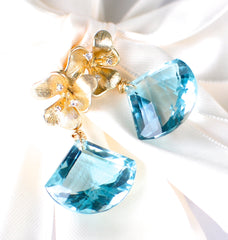 Forget Me Not! Blue Aquamarine Earrings - Handmade Jewelry - Renate Exclusive - 3