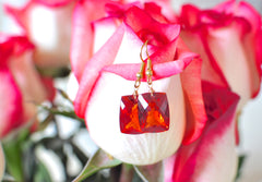 Forget Me Not! Incredible Shiny Orange Sapphire Earrings - Handmade Jewelry - Renate Exclusive - 6