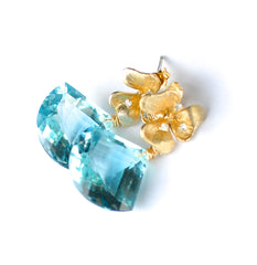 Forget Me Not! Blue Aquamarine Earrings - Handmade Jewelry - Renate Exclusive - 2