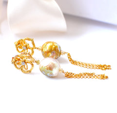 Forget Me Not! Kasumi-like Pearl Earrings - Handmade Jewelry - Renate Exclusive - 3