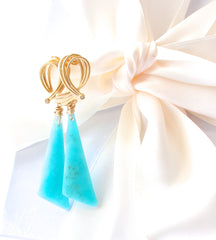 Summer Special! Beautiful Aqua Amazonite Earrings - Handmade Jewelry - Renate Exclusive - 4