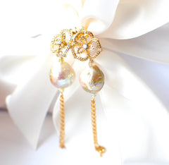 Forget Me Not! Kasumi-like Pearl Earrings - Handmade Jewelry - Renate Exclusive - 4