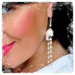 "Unique Baroque and Swarovski Pearls Earrings ""Couture"" - Handmade Jewelry - Renate Exclusive - 5"