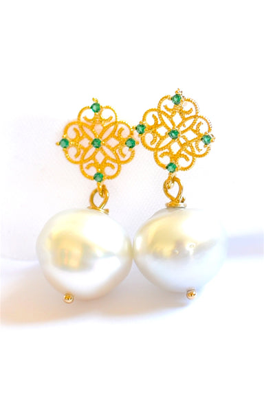 "Elegant Australian Paspaley Pearl Earrings ""Elegant Lady""💐"