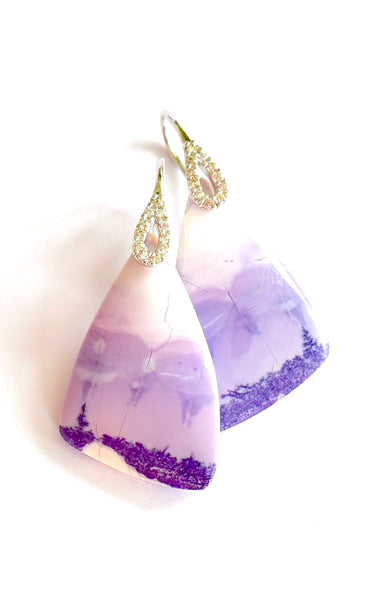 "Unique Tiffany Stone Earrings ""Lavender Field"""