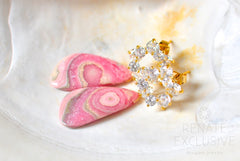 "Luxe Rhodochrosite Earrings ""Suzanne"" - Handmade Jewelry - Renate Exclusive - 2"