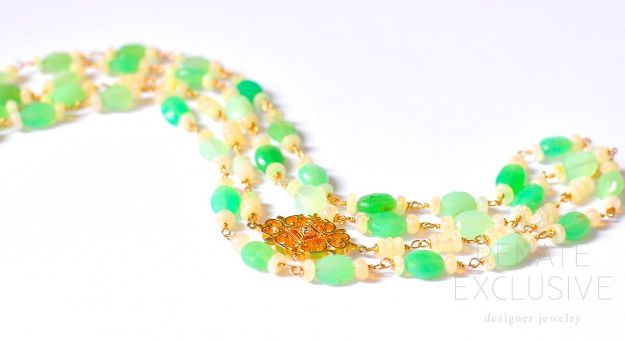 jade new products necklace and aquamarine chrysoprase aqua chalcedony pearl