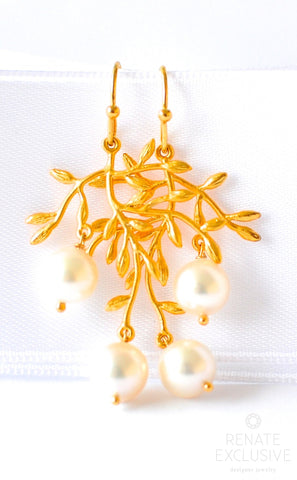 "Handmade Jewelry: Akoya Pearls Chandelier Earrings ""Chandelier"" - Handmade Jewelry - Renate Exclusive - 1"