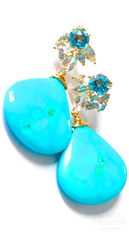 "Handmade Jewelry: Luxurious and Huge Sleeping Beauty Turquoise ""Queen Mary II"""