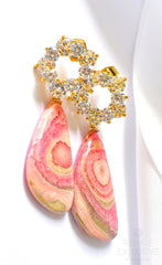 "Luxe Rhodochrosite Earrings ""Suzanne"" - Handmade Jewelry - Renate Exclusive - 3"
