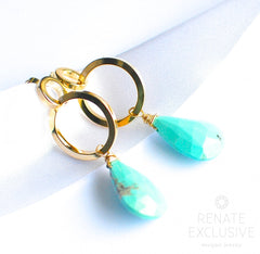 "Modern Geometric Sleeping Beauty Turquoise Earrings ""Geometric"""
