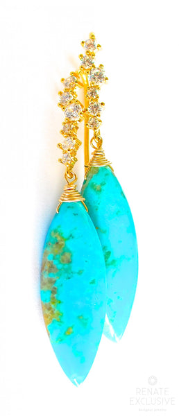 "Nacozari Turquoise Earrings ""Summer Must Have"""