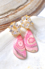 "Luxe Rhodochrosite Earrings ""Suzanne"" - Handmade Jewelry - Renate Exclusive - 5"