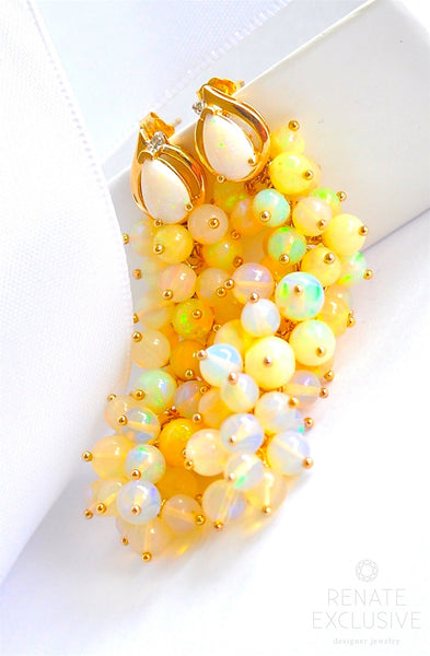 "Holiday Special! Luxurious Ethiopian Opal Earrings ""NYE"""