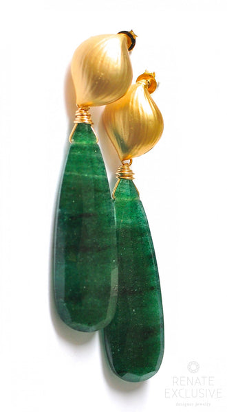 "Breathtaking Green Aventurine Earrings ""Forrest2"" - Handmade Jewelry - Renate Exclusive - 1"