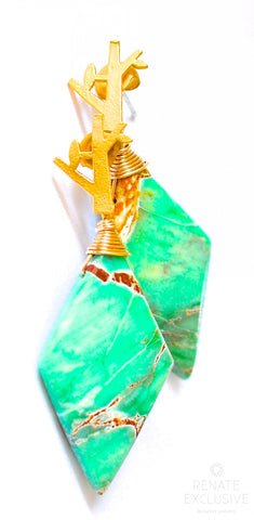 "Handmade Jewelry: Lovely Variscite Earrings ""Holiday"""